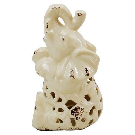 Cream Ceramic Elephant Light Target