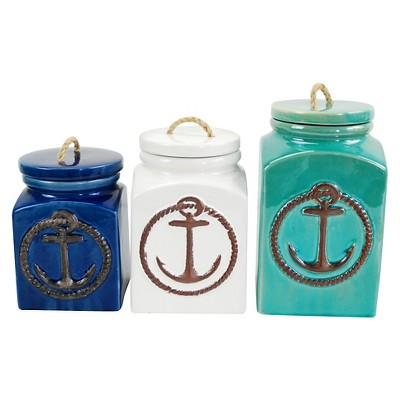 Set of 3 Anchor Canisters
