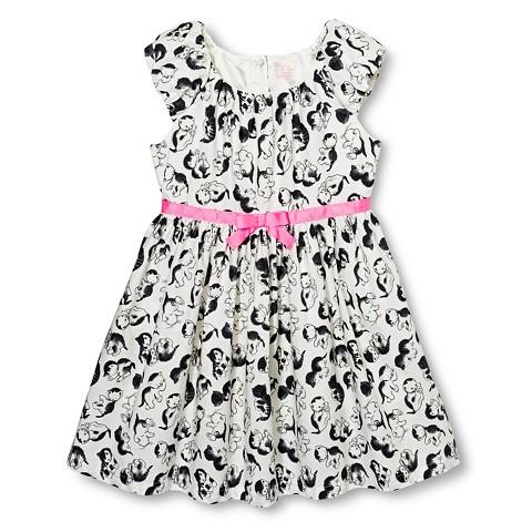 Toddler Girls' Line Dress  - Almond Cream