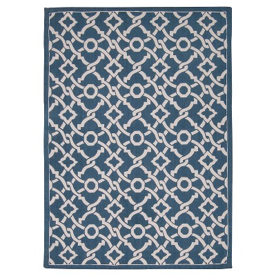 Waverly Artistic Twist Art House Area Rug - Blue Jay (5'X7')
