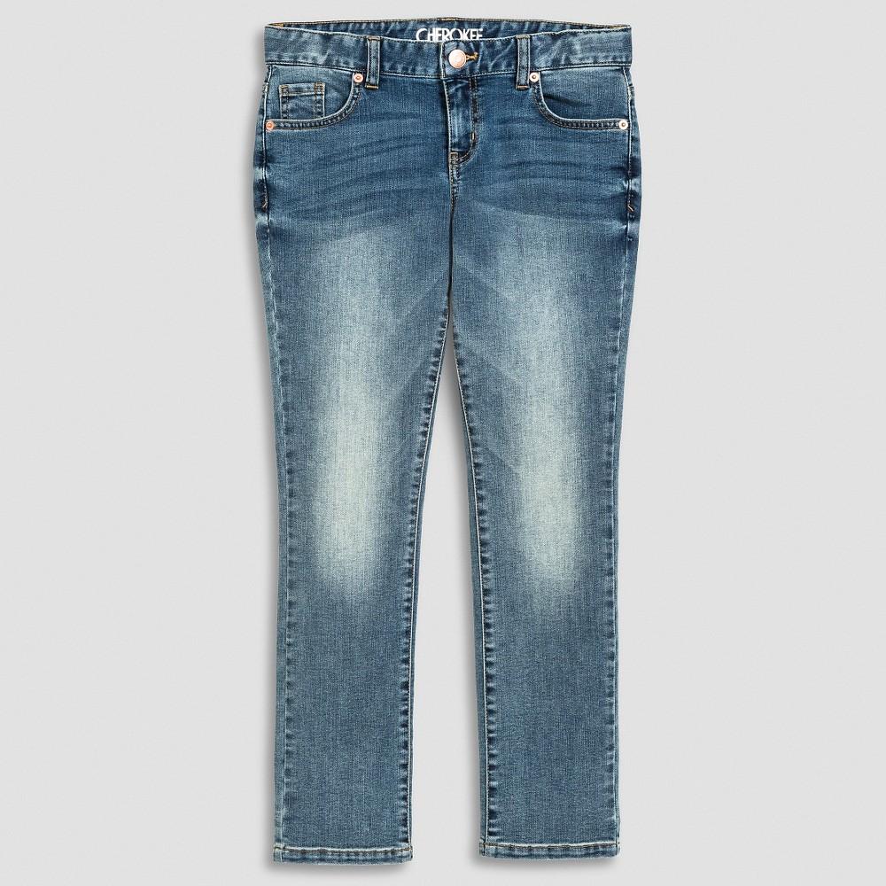 Plus Size Girls' Skinny Jean Light Vintage Wash 8 Plus - Cherokee,  Girl' Balmy Blue plus size,  plus size fashion plus size appare