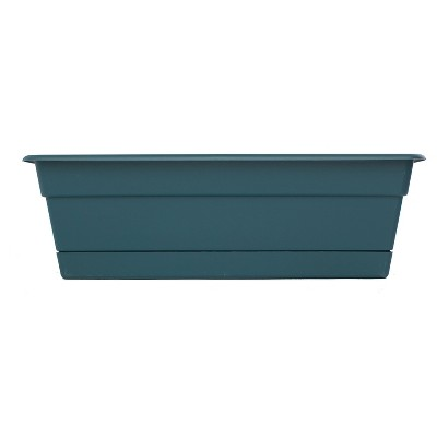 "Bloem 18"" Dura Cotta Window Box - Turbulent Blue"