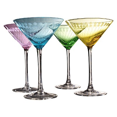 Artland Metro Martini Glasses Set of 4