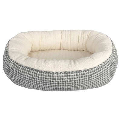 Oval Pet Bed - Houndstooth (XL) - Boots & Barkley