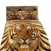 Dolce Mela Siberian Tiger 6-Pack Duvet Cover Set - Brown (Queen)