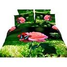 Dolce Mela  Butterfly Rose 6-Pack Duvet Cover Set - Multicolor (Queen)