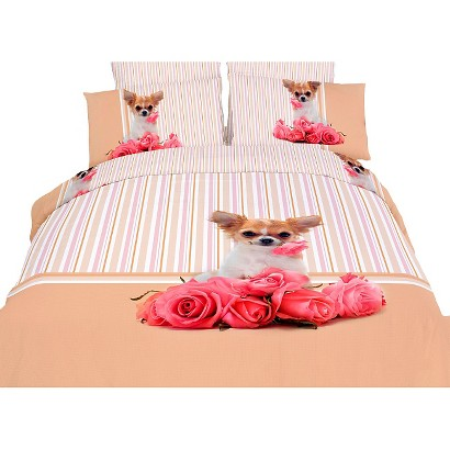Dolce Mela Cutie Pie 6-Pack Duvet Cover Set - Pink (Queen)
