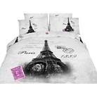 Dolce Mela Eiffel Tower Duvet Cover Set