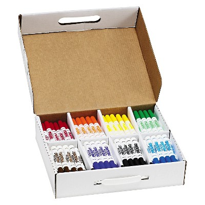 Prang® Washable Markers, Eight Assorted Colors, 200/Carton