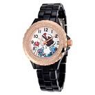 Women's Disney Snow White Bezel Enamel Sparkle Watch - Black/RoseGold