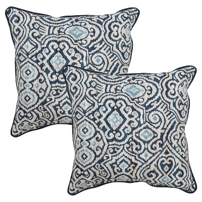Ecom Outdoor Decorative Pillow Set Thrshd Navy Off White