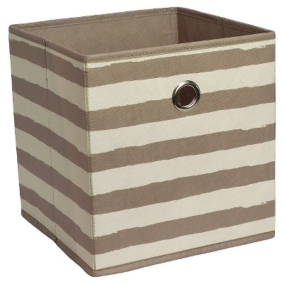 "Fabric Cube Storage Bin 11"" - Sand Pattern - Room Essentials™"