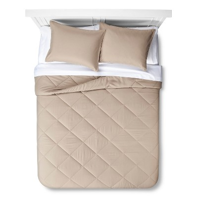 Solid Bed in a Bag with Sheet Set Twin Tan - Room Essentials™