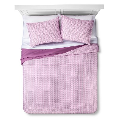 Room Essentials™ Linework Bed in a Bag with Sheet Set - Purple (Queen)