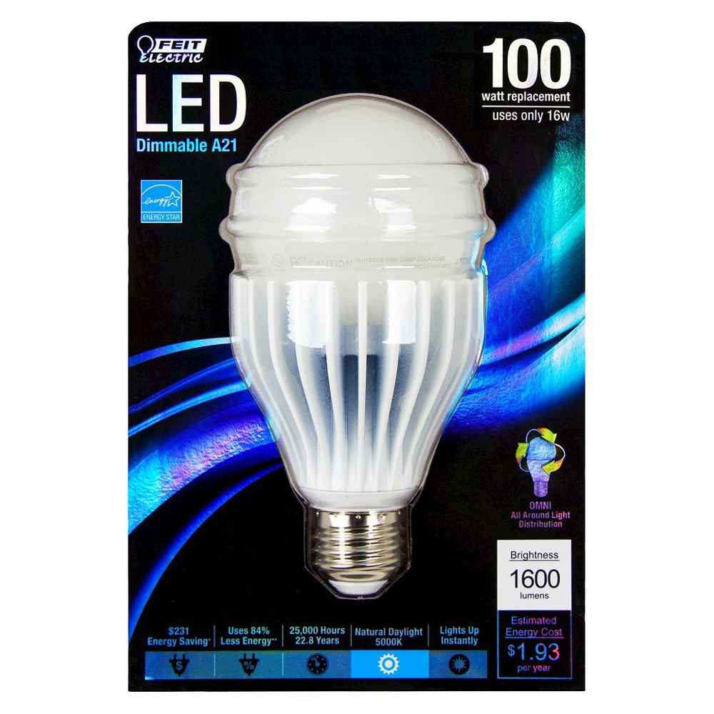 Feit 100 Watt A21 Omni Directional Led Light Bulb Natural Daylight