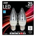 Feit 25-Watt Chandelier LED Light Bulb (2-Pack) - Soft White