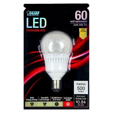 feit 60 watt a15 candelabra base led light bulb target. Black Bedroom Furniture Sets. Home Design Ideas