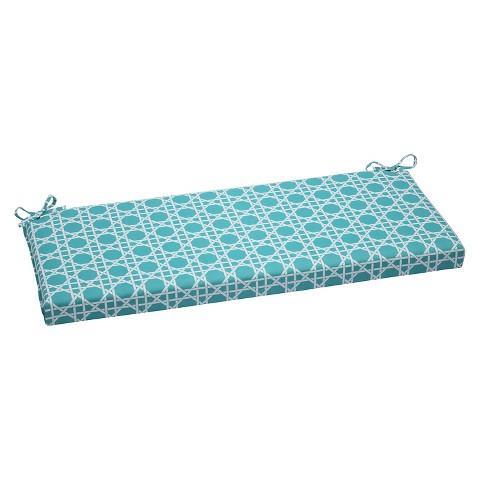 Pillow Perfect™ Kane Outdoor Bench Cushion Green Tar