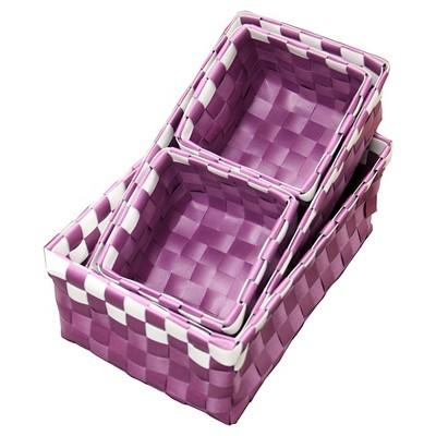 "ORE International  Polypropylene Tray Set of 4 - Purple (3.75"" X 3.25"")"