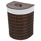 "ORE International Half Moon Folding Bamboo Laundry Basket (19.5"")"