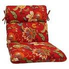 Pillow Perfect™ Tamariu Alfresco Outdoor Rounded Edge Chair Cushion - Red