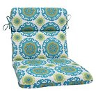 Pillow Perfect™ Suzani  Outdoor Rounded Edge Chair Cushion - Blue
