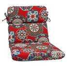 Pillow Perfect™ Cera Outdoor Rounded Edge Chair Cushion - Red