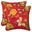 Pillow Perfect™ Tamariu Alfresco Outdoor 2-Piece Square Throw Pillow Set - Red