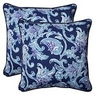 Pillow Perfect™ Lahaye  Outdoor 2-Piece Square Throw Pillow Set - Blue