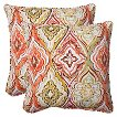 Pillow Perfect™ Montrese Outdoor 2-Piece Square Throw Pillow Set - Multicolored