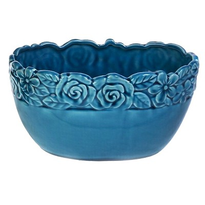 Drew Derose Decorative Container - Blue
