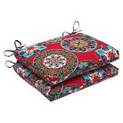 Pillow Perfect™ Cera 2-Piece Squared Edge Seat Cushion Set - Red
