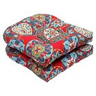 Pillow Perfect™ Cera 2-Piece Outdoor Wicker Seat Cushion Set - Red