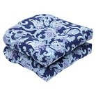 Pillow Perfect™ Lahaye  2-Piece Outdoor Wicker Seat Cushion Set - Blue