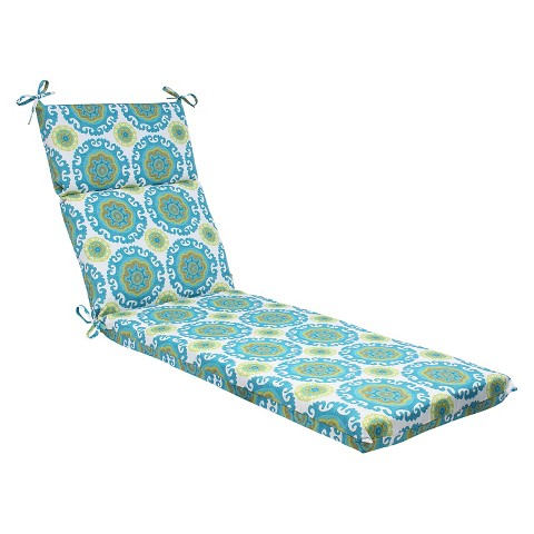 Pillow perfect suzani outdoor chaise lounge cu target for Blue chaise lounge cushions