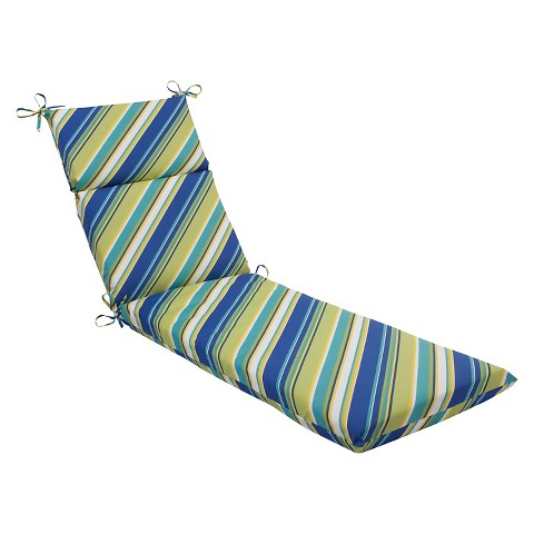 Pillow perfect browning outdoor chaise lounge c target for Blue chaise cushions