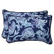 Pillow Perfect™ Lahaye  Outdoor 2-Piece Lumbar Throw Pillow Set - Blue