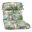 Pillow Perfect™ Key Biscayne Outdoor Rounded Edge Chair Cushion - Green