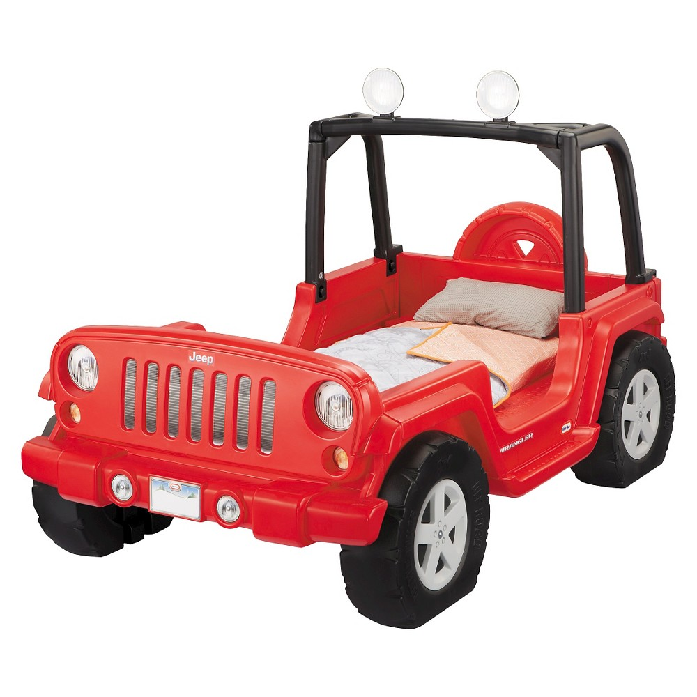 KIDS BED LITTLE TIKES JEEP WRANGLER TODDLER TO TWIN BED