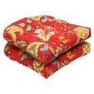 Pillow Perfect™ Tamariu Alfresco 2-Piece Outdoor Wicker Seat Cushion Set - Red