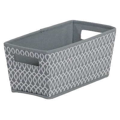 itso® Fabric Quarter Bin - Gray Lattice