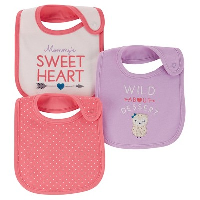 Just One You™ Made By Carter's® Newborn Girls' 3-Pack Bib Set - Pink
