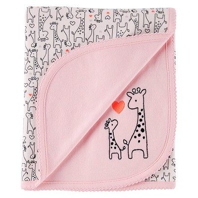 Just One You™ Made By Carter's® Newborn Girls' Giraffe Baby Blanket - Pink