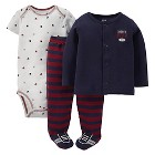 Just One You™ Made By Carter's® Newborn Boys 3-Piece Set - Maroon