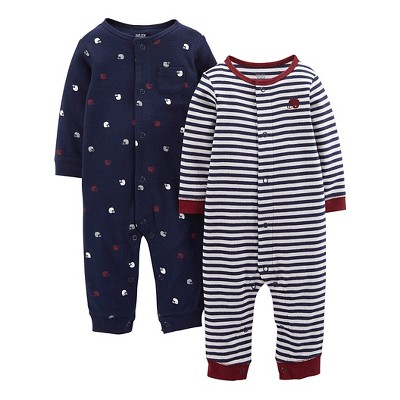 Just One You™ Made By Carter's® Newborn Boys 2-Pack Jumpsuit - Blue 3 M