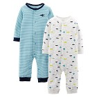 Just One You™ Made By Carter's® Newborn Boys 2-Pack Stripe Jumpsuit - Blue