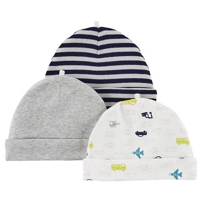 Just One You™ Made By Carter's® Newborn Boys' 3-Piece Hat and Handwear One Piece - Gray