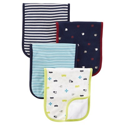 Just One You™ Made By Carter's® Newborn Boys' 4-Piece Burp Cloth Set - Blue
