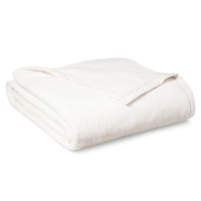 Threshold™ Fuzzy Blanket - Cream (Full/Queen)