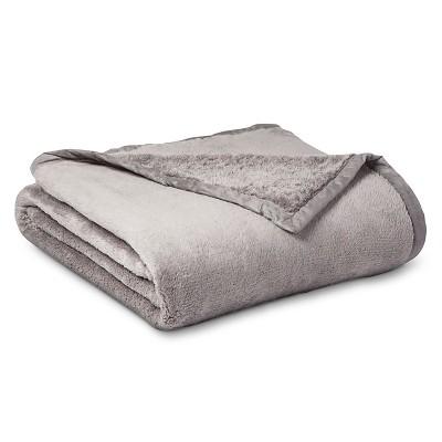 Threshold™ Fuzzy Blanket - Gray (Full/Queen)
